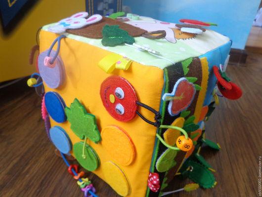 Развивающие игрушки ручной работы. Ярмарка Мастеров - ручная работа. Купить Развивающий кубик № 1. Handmade. Развивающая игрушка