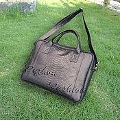 Сумки и аксессуары handmade. Livemaster - original item Men`s bag made of Python-EVO. Handmade.