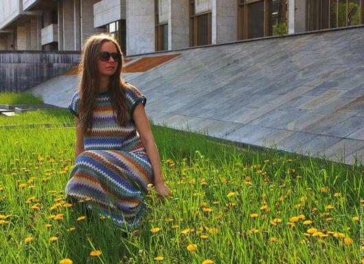 Платья ручной работы. Ярмарка Мастеров - ручная работа. Купить Платье. Handmade. Комбинированный, весна, шелк натуральный, кожа натуральная