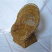 Куклы и игрушки ручной работы. Ярмарка Мастеров - ручная работа Кресло для кукол 1:6 плетеное. Handmade.