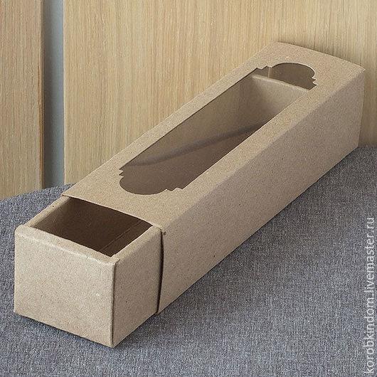 Упаковка ручной работы. Ярмарка Мастеров - ручная работа. Купить Коробка-пенал 22х5х5 крафт с окном. Handmade. Коробочка