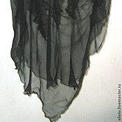 Аксессуары ручной работы. Ярмарка Мастеров - ручная работа Шарф- палантин из шифона Черная моль. Handmade.