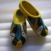 """Обувь ручной работы. Ярмарка Мастеров - ручная работа Тапочки """"Жара в мегаполисе"""". Handmade."""