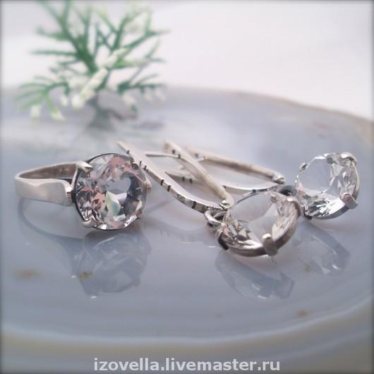 Jewelry Sets handmade. Livemaster - handmade. Buy Set Rosinka - white Topaz, silver.925 sterling silver