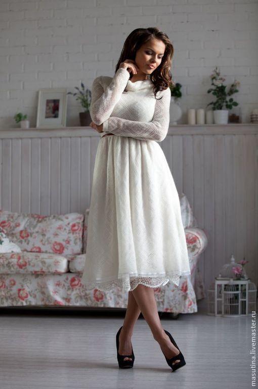 нарядное белое платье для свадьбы