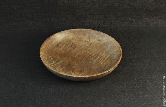 Декоративная посуда ручной работы. Ярмарка Мастеров - ручная работа. Купить Тарелка из дерева. Орех.. Handmade. Коричневый, декоративная тарелка