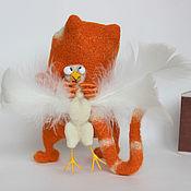 Куклы и игрушки ручной работы. Ярмарка Мастеров - ручная работа кот- ангел. Handmade.