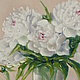 """Картины цветов ручной работы. Ярмарка Мастеров - ручная работа. Купить Картина маслом """"Белые пионы"""",40х60 (цветы, белый, розовый,салатовый). Handmade."""