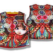 """Работы для детей, ручной работы. Ярмарка Мастеров - ручная работа Детская безрукавка для девочки """"Матрешка"""". Handmade."""