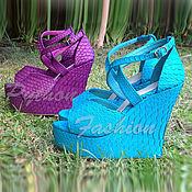 Обувь ручной работы handmade. Livemaster - original item Clogs from Python CHARM. Handmade.