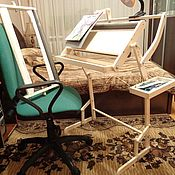 Материалы для творчества ручной работы. Ярмарка Мастеров - ручная работа Напольно-диванный станок для алмазной выкладки с дополнительной рамкой. Handmade.