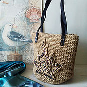 Сумки и аксессуары handmade. Livemaster - original item Bag knitted Black Flame. Handmade.