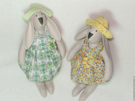 игрушки Башкировой Анны, подружки, зайка, тильда заяц, игрушки ручной работы