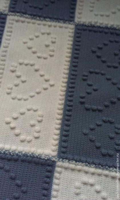 Текстиль, ковры ручной работы. Ярмарка Мастеров - ручная работа Плед Сердечки. Handmade.