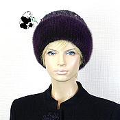 Аксессуары handmade. Livemaster - original item Luxury women`s hat made of Finnish mink fur on knitwear DF-88. Handmade.