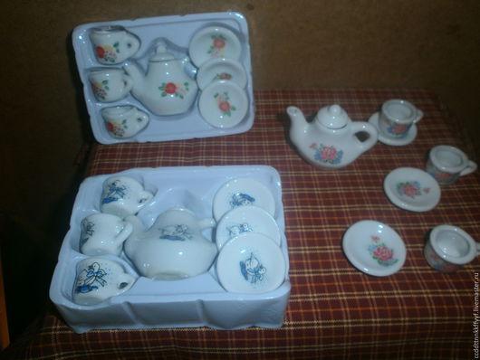 Миниатюра ручной работы. Ярмарка Мастеров - ручная работа. Купить посуда для кукол. Handmade. Комбинированный, столовый набор, Блюдце