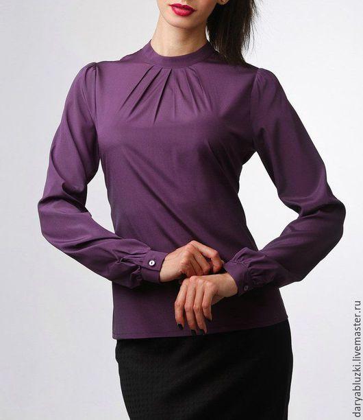 """Блузки ручной работы. Ярмарка Мастеров - ручная работа. Купить Блузка из шелка """"Ежевика"""". Handmade. Тёмно-фиолетовый, блуза"""