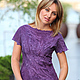 """Блузки ручной работы. Ярмарка Мастеров - ручная работа. Купить Блуза валяная """"Purple flowers"""". Handmade. Фиолетовый, красивая туника"""