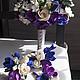 """Свадебные цветы ручной работы. Заказать Букет невесты """"Магия цвета"""". Андреева Яна. Ярмарка Мастеров. Шикарный"""