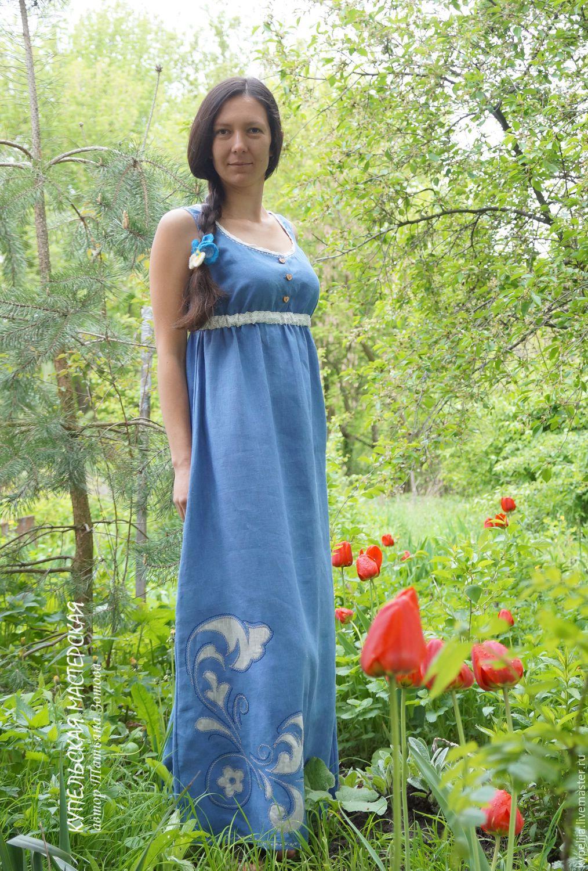 e3694d559a8e Для будущих и молодых мам ручной работы. сарафан льняной