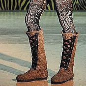Обувь ручной работы handmade. Livemaster - original item Boots lace-up Boots, NATURE natural-grey. Handmade.