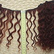 Материалы для творчества handmade. Livemaster - original item Hair pieces natural mohair (goat) brown. Handmade.