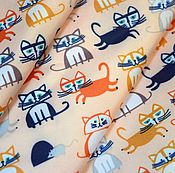 """Материалы для творчества ручной работы. Ярмарка Мастеров - ручная работа Плащевка """"Котейки"""". Handmade."""