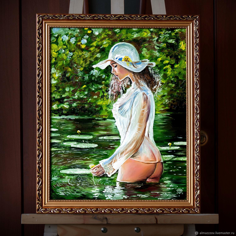 Девушка с кувшинкой, Картины, Новочеркасск,  Фото №1