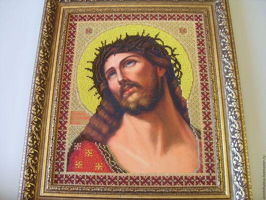 Иконы ручной работы. Ярмарка Мастеров - ручная работа. Купить Иисус Христос в терновом венце. Handmade. Икона, комбинированный, терн