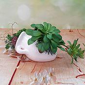 Цветы и флористика handmade. Livemaster - original item Composition of artificial succulents in an amphora. Handmade.