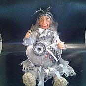 Куклы и пупсы ручной работы. Ярмарка Мастеров - ручная работа Баба Яга - Игольница. Handmade.