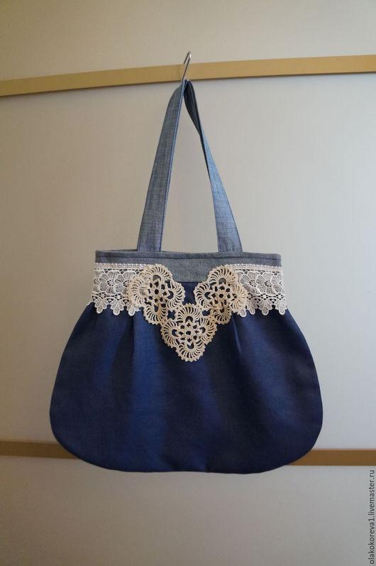 Женские сумки ручной работы. Ярмарка Мастеров - ручная работа. Купить Сумка джинсовка синяя бохо 2. Handmade.
