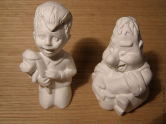 Развивающие игрушки ручной работы. Ярмарка Мастеров - ручная работа. Купить Гипсовая раскраска Малыш и Карлсон. Handmade. Белый, объемная