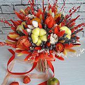 """Букеты ручной работы. Ярмарка Мастеров - ручная работа Яркий красочный букетик из сухоцветов """"Осеннее настроение"""". Handmade."""