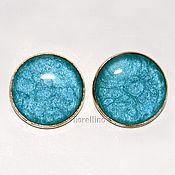 Украшения handmade. Livemaster - original item Earring studs ear studs set turquoise color. Handmade.