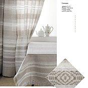 Для дома и интерьера handmade. Livemaster - original item Curtains linen woven patterned with handmade earring. Handmade.