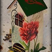 """Для дома и интерьера ручной работы. Ярмарка Мастеров - ручная работа Чайный домик """"В саду распустился пион..."""". Handmade."""