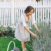 Одежда handmade. Livemaster - original item Apron-dress of linen for the house Provence. Handmade.