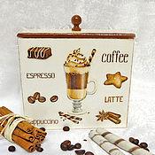 """Для дома и интерьера ручной работы. Ярмарка Мастеров - ручная работа Короб """"Coffee"""". Handmade."""