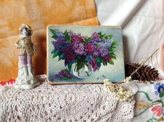 Картины цветов ручной работы. Ярмарка Мастеров - ручная работа. Купить Букет сирени. Handmade. Сирень, цветы, картина в подарок