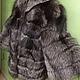 Шуба из чернобурки расшита на черной замше,рукав широкий клеш,на крючках,воротник стоечка, шубка легкая и теплая, возможен пошив любой длины, шуба шьется индивидуально по меркам, срок пошива 7-10 дней