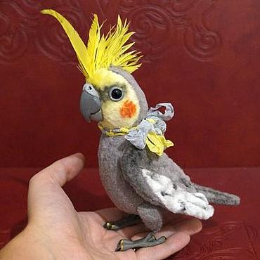 Куклы и игрушки ручной работы. Ярмарка Мастеров - ручная работа Риччи,  попугай корелла. Handmade.