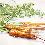 Картины и панно ручной работы. Ярмарка Мастеров - ручная работа Морковки. Handmade.