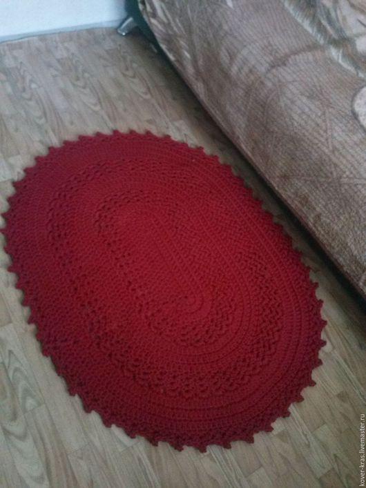 Текстиль, ковры ручной работы. Ярмарка Мастеров - ручная работа. Купить ковер ажурный. Handmade. Бордовый, ковер на пол
