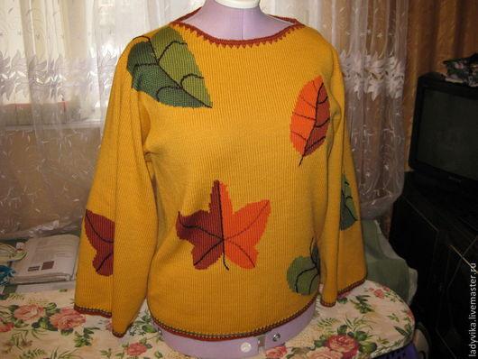 Кофты и свитера ручной работы. Ярмарка Мастеров - ручная работа. Купить пуловер. Handmade. Желтый, смесовая пряжа