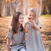 Работы для детей, ручной работы. Ярмарка Мастеров - ручная работа Детское осеннее зимнее тёплое платье, серое, нарядное, шерстяное. Handmade.