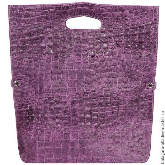 """Женские сумки ручной работы. Ярмарка Мастеров - ручная работа. Купить Клатч-пакет """"Кроко"""". Handmade. Клатч, натуральная кожа"""