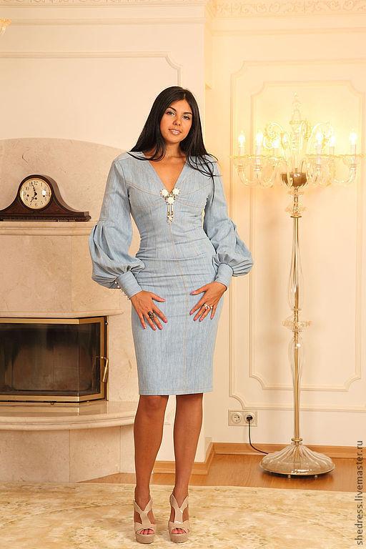 Купить джинсовое стрейч платье из германии