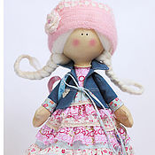 Куклы и игрушки ручной работы. Ярмарка Мастеров - ручная работа Весна. Кукла текстильная. Большеногая девочка. Юная Селестина. Handmade.