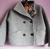 Одежда ручной работы. Ярмарка Мастеров - ручная работа Курточка из пальтовой ткани авто-леди. Handmade.
